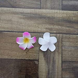 ShineBear HappyKiss10Pcs 4cm/5CM/6CM/7CM/8CM Plumeria Foam Frangipani Flower Artificial Silk Fake Egg Flower for Wedding Party Home – (Color: Fushia, Size: 6cm)