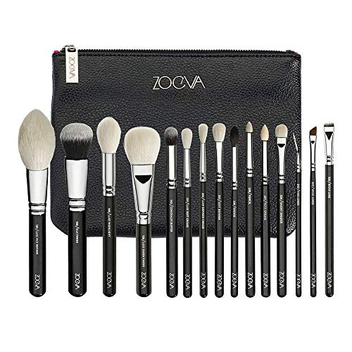 - Zoeva Luxe Complete Set Fly Me To The Moon Exclusive Luxe Selection Of 15 Professional Brushes For Face and Eyes Made Of Both, Natural and Synthetic Bristles