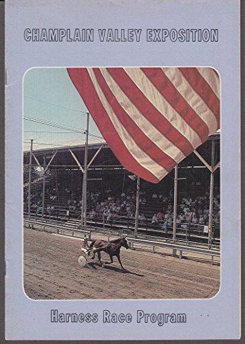 Champlain Valley Expo Harness Racing Program 1980 Essex Jct VT