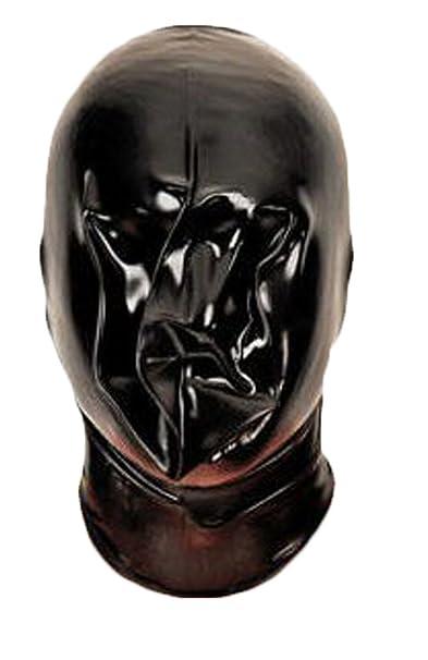 Amazon.com: AvaCostume negro goma de látex Catsuit hinchable ...