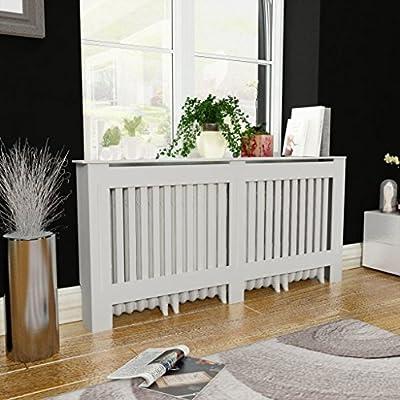 """Festnight Radiator Cover Heating Cabinet White MDF 67.7"""""""