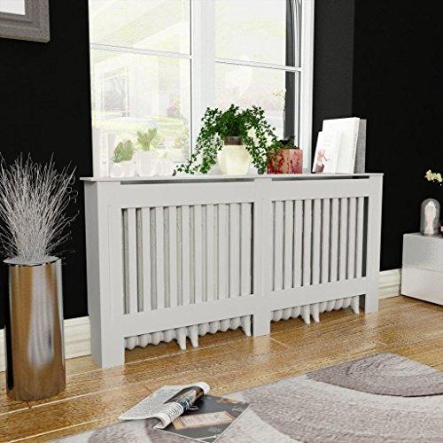 Festnight Radiator Cover Heating Cabinet White MDF 67.7