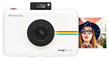 Polaroid Snap Touch Instant Print Digital Camera With LCD Display (White) with Zink Zero Ink Printing Technology Instant Cameras at amazon