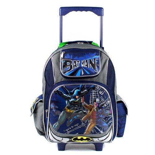 Large Rolling Backpack - DC Comic Batman vs 2-faces New Bag Boys 491451   B00CTWIX88