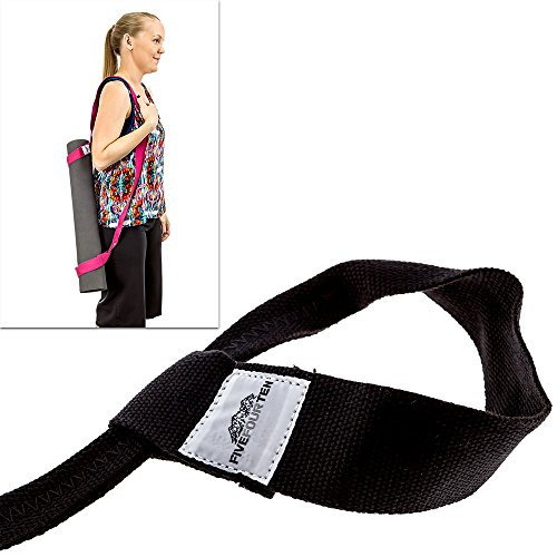 Yoga Mat Strap for carrying Yoga Mats of any kind & size. Replaces Yoga Mat bags and prevents bacteria growth. 1 Tree Planted with every strap. & FiveFourTen