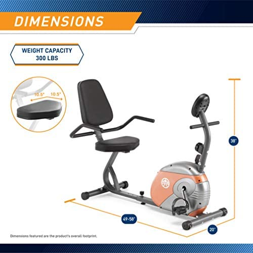 Marcy Recumbent Exercise Bike with Resistance ME-709 2