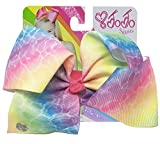 JoJo Siwa Large Cheer Hair Bow (Washed Rainbow Tie-Dye)