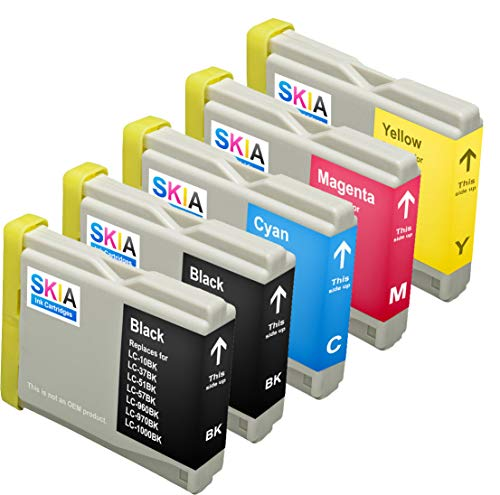 Skia 5 Pack LC51 Replacement Ink Cartridges for Brother DCP-130c DCP-330c DCP-350C Intellifax 1360 MFC-230C MFC-240C MFC-440CN MFC-465cn MFC-5460CN MFC-665CW MFC-685cw MFC-885cw LC 51