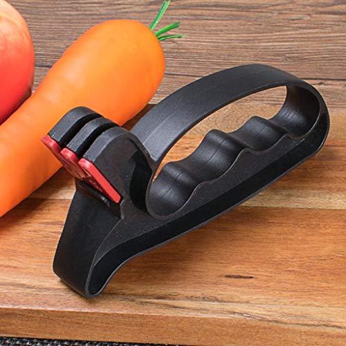 Nesee 2 in 1 Edge Handheld Knife Sharpener Handy Professional Handheld Scissors Sharpener Tool Carbide V Sharpening Concept - Full Length Safety