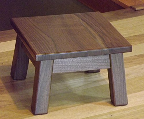 Walnut step stool foot stool riser 8