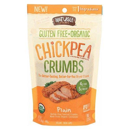 Watusee Foods Organic Plain Chickpea Breadcrumb, 7 Ounce - 10 per case.
