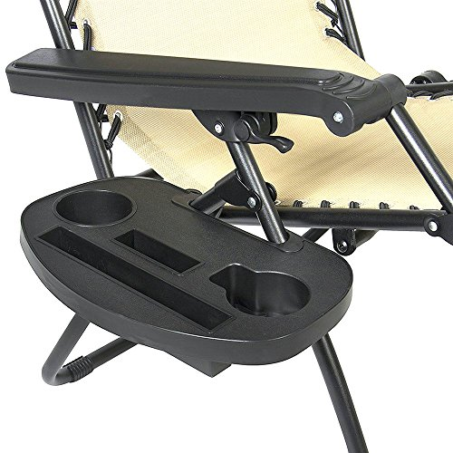 IRCtek Universal Oval Zero Gravity Chair Cup Holder with Mobile Device Slot and Snack Tray (2, Large) Review