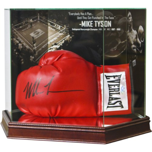 Boxing Mike Tyson Photo Background Glove (Glove Display)