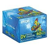 TDK High Quality Mini DV Digital Camcorder Tape, Pack of 5, DVM60