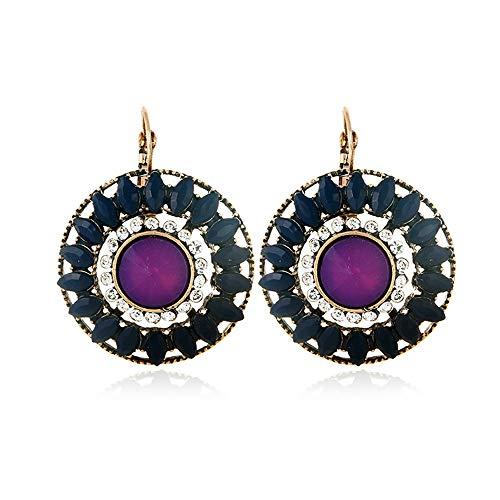 vmree Novelty Eyes Rhinestone Stud Earrings Fashion Exotic Ear Nails Jewelry Wonderful Gift for Women Girls (B)