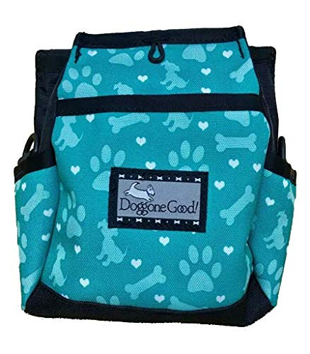 Doggone Good! Rapid Reward Pouch w/Free Belt Strap (Jade Hearts Paws Design) Buy Directly from Manufacturer