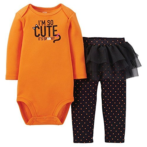 Just One You Made by Carter's 2pc Halloween Set I'm So Cute It's Spooky Baby Girls (Newborn) ()