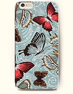 Case Cover For SamSung Galaxy S5 Mini Hard Case Cover Many Brown Red Transparent Butterflies