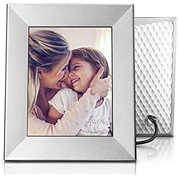 Amazon aura digital photo frame beautifully designed with nixplay iris 8 wi fi cloud frame w08e silver solutioingenieria