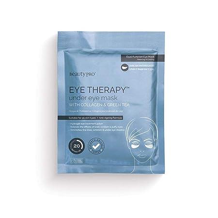 beautypro terapia de ojo máscara de colágeno bajo ojo con extracto de té verde (3 aplicaciones)
