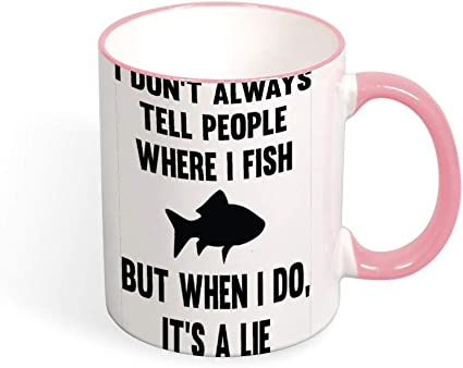 Where I Fish Two Tone Best Funny Coffee Mug Sarcastic Novelty Cup Joke Great Gift Idea For Men Women Office Work Adult Humor Employee Boss Coworkers 11 Oz 9 Colors Amazon Co Uk Kitchen