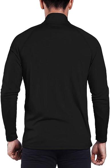Ogeenier Mens UPF 50 UV Sun Protection Outdoor 1//4 Zip Dri-fit Long Sleeve Performance T-Shirt