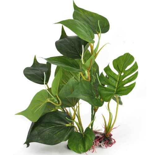 DIGIFLEX 30cm Artificial Aquarium Plant Real Look FishTank Ornament Green Leaves…