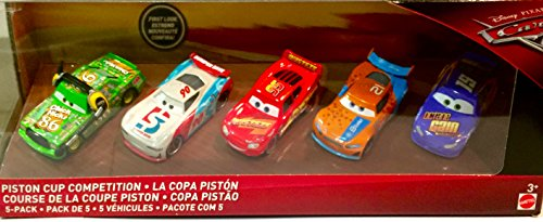 Disney Pixar Cars 3 Piston Cup Competition Exclusive 5-Pack (Includes 2 Next Gen Racers) - Exclusive Disney Pixar Cars