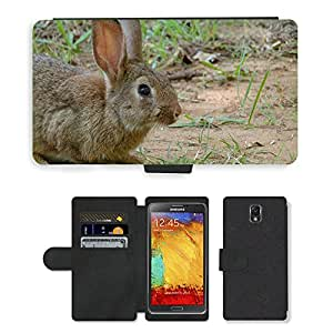 Super Stella Cell Phone Card Slot PU Leather Wallet Case // M00144866 Rabbit Bunny Animal Easter Pet Hare // Samsung Galaxy Note 3 III N9000 N9002 N9005