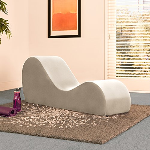 Liberator Chaise Lounge Yoga Chair Champagne Micro