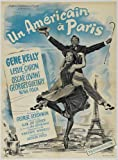 "AN AMERICAN IN PARIS French Movie Poster classic (24""x36"") Vincente Minnelli 1951 with Gene Kelly Mussical Poster Classic Cinema"