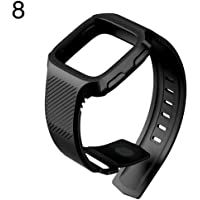Replacement Sports Silicone Adjustable Watch Band Wrist Strap for Fitbit Versa - Black