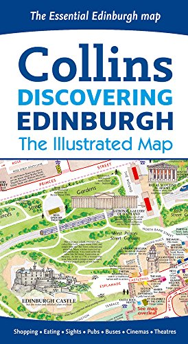 Discovering Edinburgh Illustrated Map 2016***