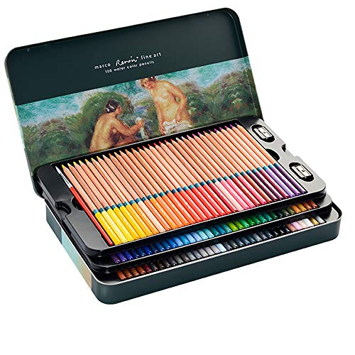 Professional Colored Pencils, Oil-Based, Water-Soluble, Fine Art Painting, Professional Hand-Painted (100 Color, 100 Color Water soluble)