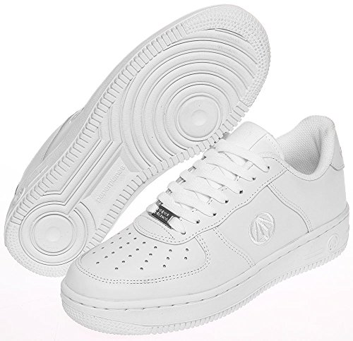 Paperplanes-1337 Unisex Fashion Casual Leather Low Top Sneakers White R6W7axVGN