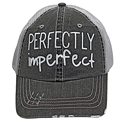 R2N fashions Perfectly Imperfect Women's Trucker Hats & Caps Black/Grey