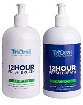 TriOral 12-hour Fresh Breath 2-bottle Rinse System, Mint