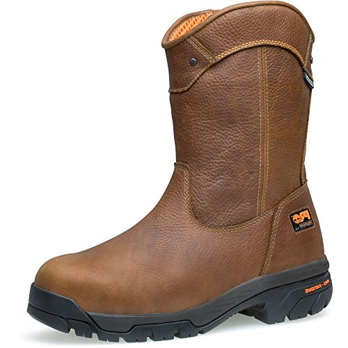 Timberland PRO Men's Helix Wellington Waterproof Steel Toe Work Boot,Brown/Brown,10 W US