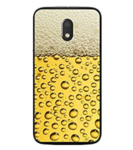 Fuson Designer Phone Back Case Cover Motorola Moto E3 :: Motorola Moto E (3rd Gen) ( Bubbles And Foam In Drinks )