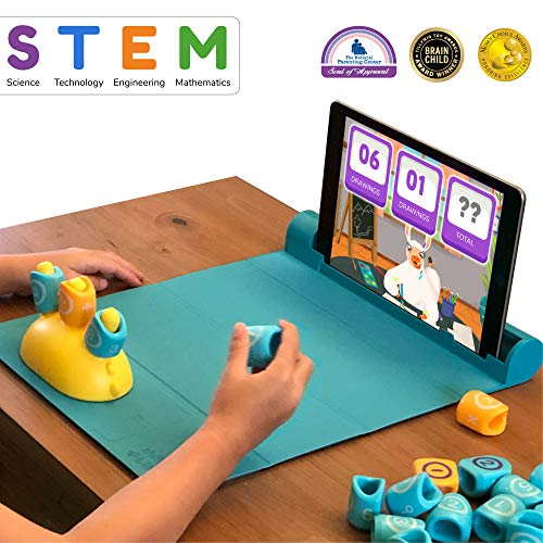 Shifu Plugo Count Math Game with Stories & Puzzles - Augmented Reality STEM Toy | Cool Math Games with Magnetic Blocks for Boys and Girls Ages 4 to 10 Years (iOS/ Samsung Devices) (Best Gaming System For 5 Year Old)