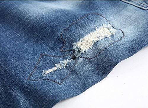 De Barba Moda De Comfort Pantalones Los De Bordado Joven Hombres Pantalones Los De Algodón Clásicos De Gato Pantalones Vaqueros T Moda De De Los Moda De La Agujeros Blau Original Gatos Trend De q84wx58SI