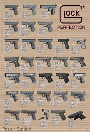 Amazon com glock short gun models accessories poster rare new