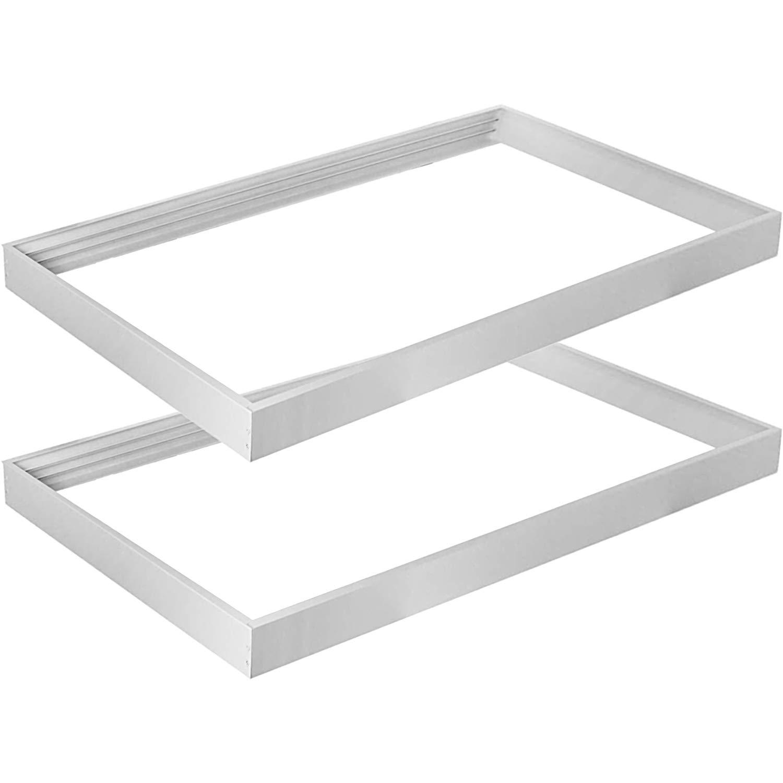 Hykolity Surface Mount Kit for 2x4 FT LED Troffer Flat Panel Drop Ceiling Light - 2 Pack
