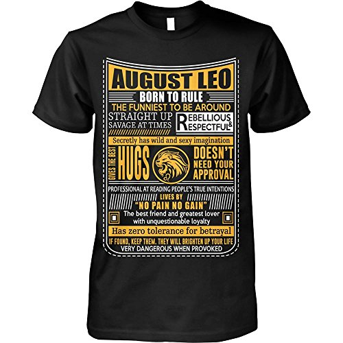 435fffa4 Leo Zodiac Tshirt August Leo Born to Rule Leo Zodiac Tshirt for Men Women
