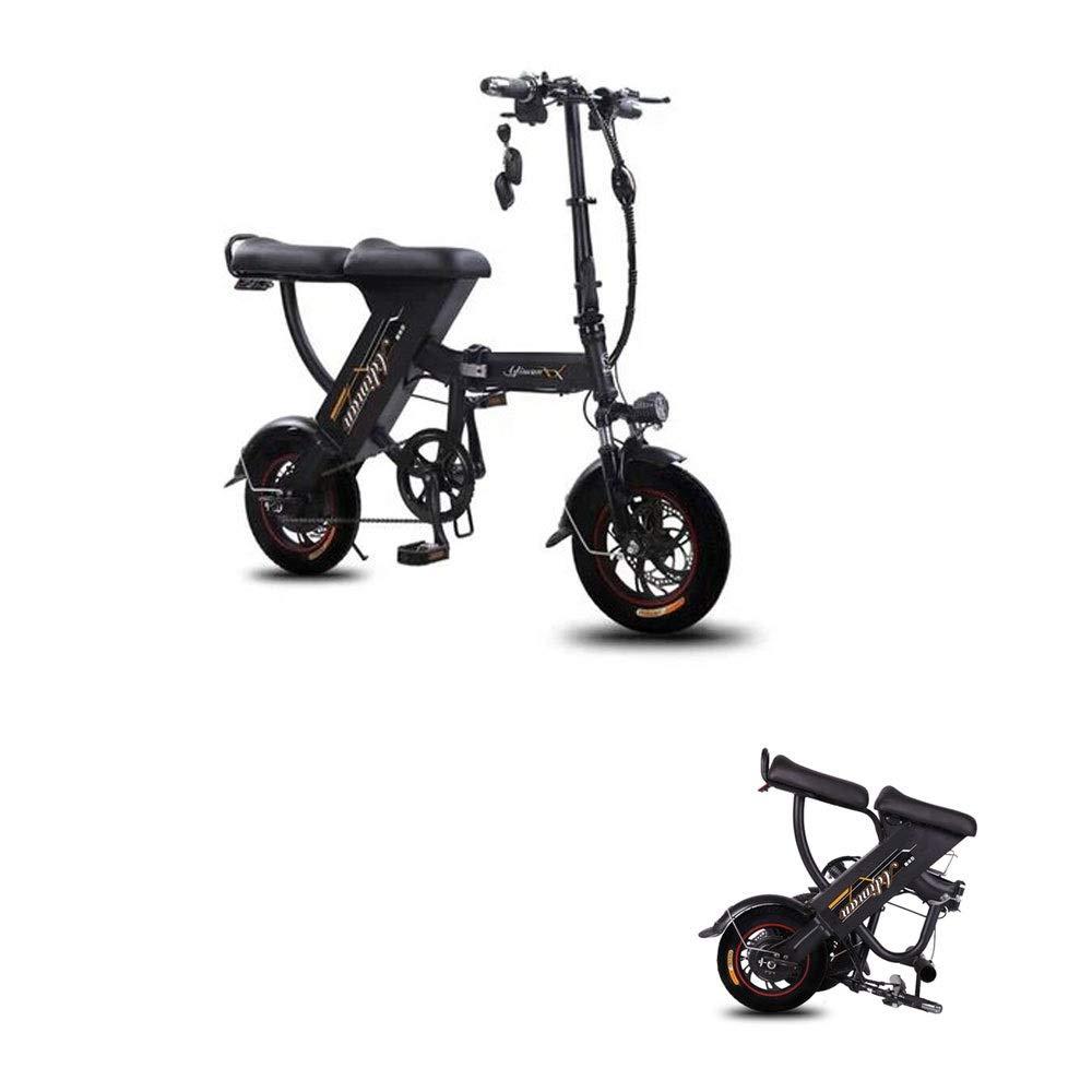 lungolungoJINGXIAO Bicicletta elettrica for Uomo e Donna, Pieghevole, Batteria al Litio, Doppia, Molto Tempo di Attesa ( Coloree   nero , Dimensione   50 km )