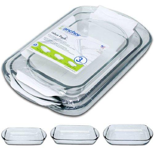 Piece Dish Baking 3 - 3 Piece Bake & Serve Glassware Set
