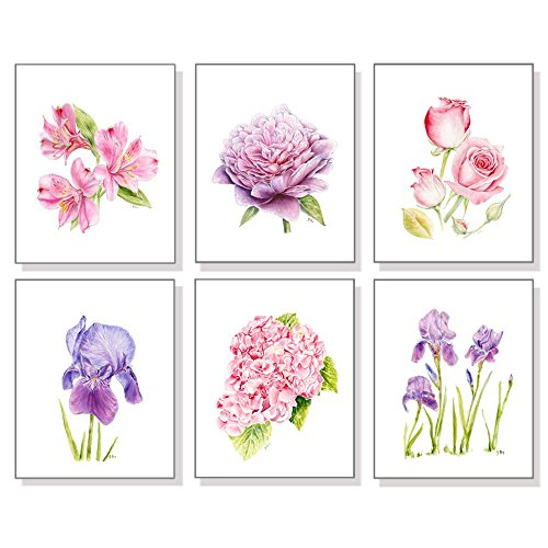 Flower Art Prints , Floral Wall Art, Botanical Wall Decor,