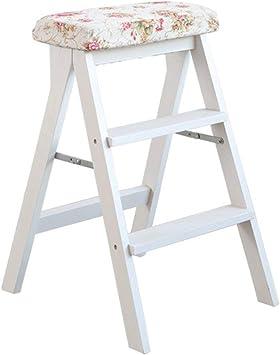 AFDK Taburete de madera blanca para niños adultos 3 escalones, cocina plegable escalera interior,Estilo-3: Amazon.es: Bricolaje y herramientas