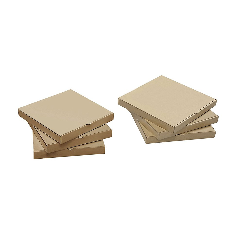 Ecomojiware 12 inches Pizza Boxes Kraft Pizza Paperboard Take Out Containers Packing Boxes 10 Pieces L12.6Lx12.6Wx1.75H Inches…