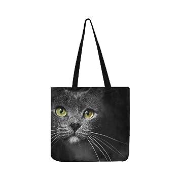 Bozal de un gato con ojos verdes para gatos, bolso de mano, bolso de hombro, bolso bandolera, bolso de compra, bolso para hombres y mujeres: Amazon.es: ...